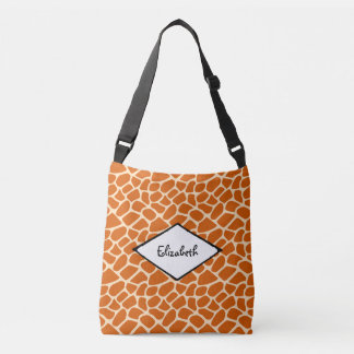 Giraffe Skin Pattern Exotic Wildlife Crossbody Bag