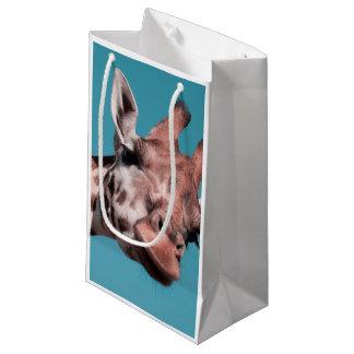 giraffe small gift bag