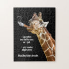 Giraffe Smoking Cigar Jigsaw Puzzle