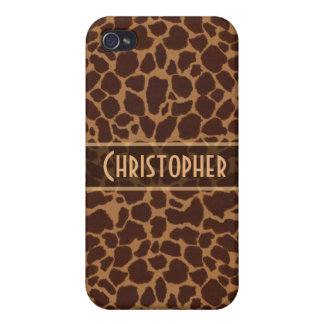 Giraffe Spot Pattern Personalize iPhone 4/4S Cover