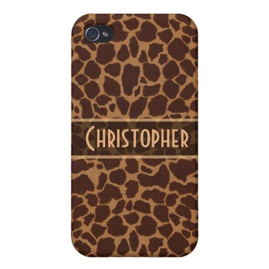 Giraffe Spot Pattern Personalize iPhone 4 Cases