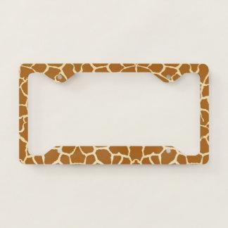 Giraffe Spots License Plate Frame
