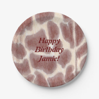 Giraffe Spots Safari Birthday Plates