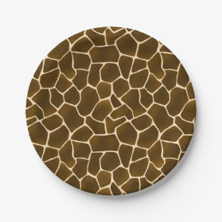 Giraffe Spots Wild Safari Animal Print Paper Plate