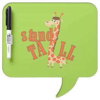 Giraffe Stand Tall Dry Erase Board