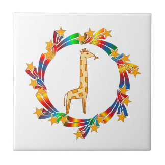Giraffe Stars Tile