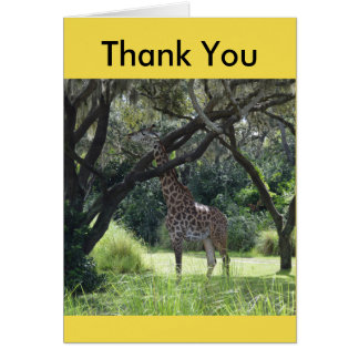 Giraffe Sticking Neck Out Card