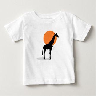 Giraffe Sunset Baby T-Shirt