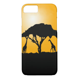 Giraffe Sunset Phone case
