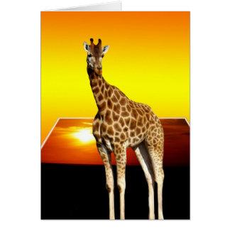 Giraffe Sunshine Popout Art, Card