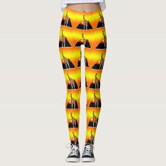 Giraffe Sunshine Popout  Art, Leggings