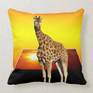 Giraffe Sunshine Popout Art Lge Throw Cushion. Throw Pillow