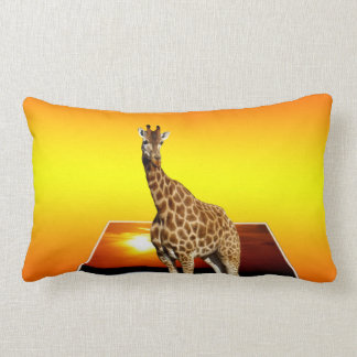 Giraffe Sunshine Popout Art, Lumbar Cushion. Lumbar Pillow