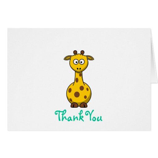 Giraffe - Thank You Cards