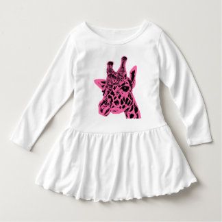 """Giraffe"" Toddler Ruffle Dress"