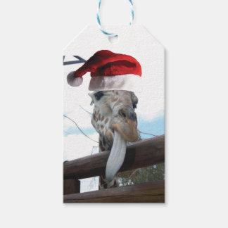 Giraffe-Tongue-Santa Gift Tags