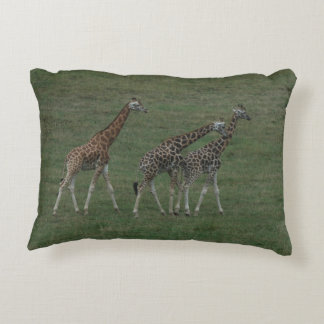 Giraffe Triplets Personalize Destiny Destiny'S Decorative Pillow