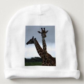 Giraffe Twins Africa Personalize Destiny Destiny'S Baby Beanie