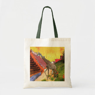 Giraffe, van Gogh village painting Tote Bag