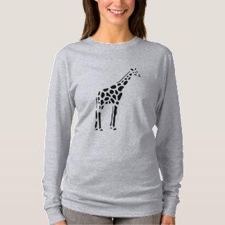 Giraffe Vintage Wood Engraving T-Shirt