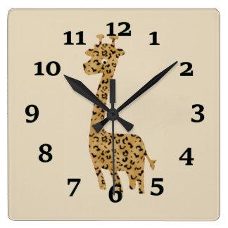Giraffe Wallclock