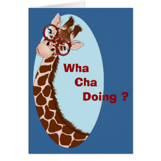 Giraffe Wants to Know Notecard Stationery Note Card