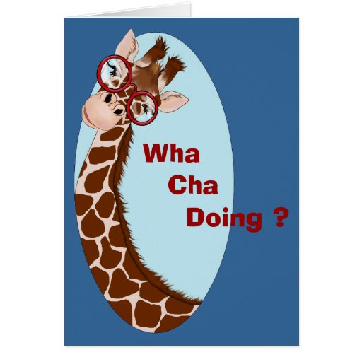 Giraffe Wants to Know Notecard Greeting Cards