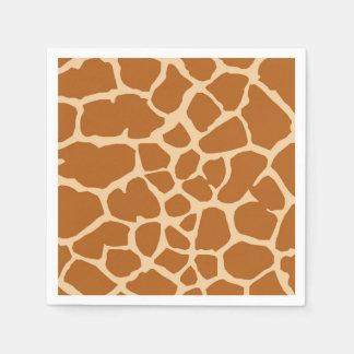 Giraffe wild jungle animal fashion glamour disposable napkins