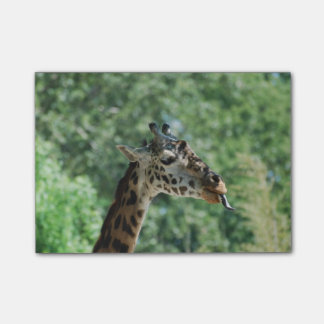 Giraffe with a Long Tongue Post-it Notes