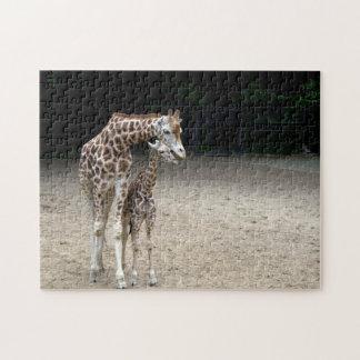 Giraffe with child jigsaw puzzle