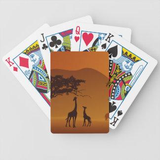 giraffe with her baby safari style bicycle poker deck