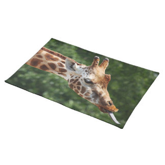 Giraffe with Tongue Out Placemat