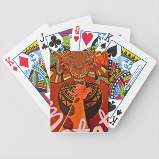 Giraffe with two ponytails art bicycle playing cards