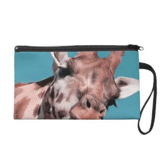 giraffe wristlet clutch
