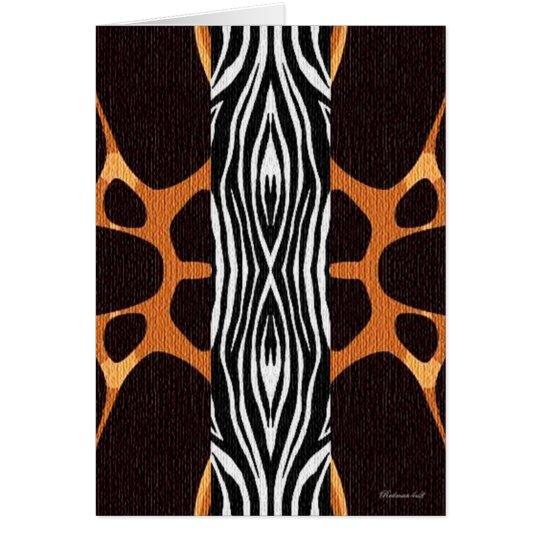 Giraffe Zebra Card