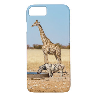 Giraffe & zebra iPhone 7 case
