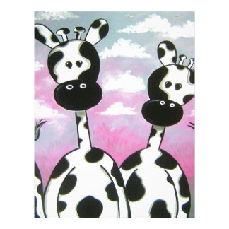 Giraffees Two Zazzle Letterhead