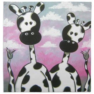 Giraffees Two Zazzle Napkin