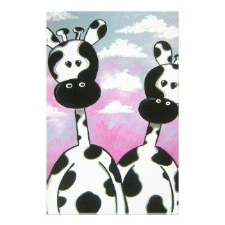Giraffees Two Zazzle Stationery