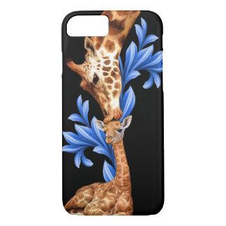 Giraffes- A Mother's love iPhone 7 Case