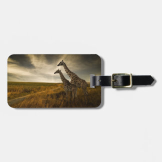 Giraffes and The Landscape Luggage Tag