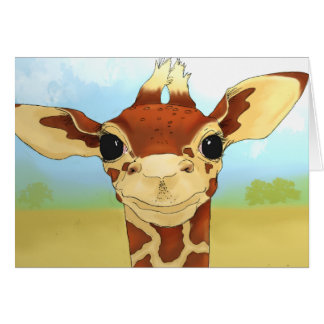 Giraffes are weird card