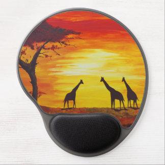 Giraffes at Sunset (Kimberly Turnbull Art) Gel Mouse Pad