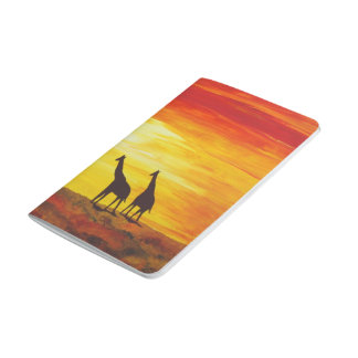 Giraffes at Sunset (Kimberly Turnbull Art) Journal