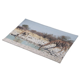 Giraffes at the Watering Hole Placemat