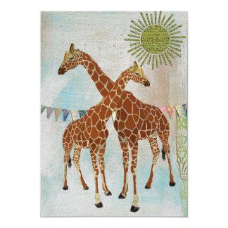 Giraffes Baby Shower Sunshine Invitation