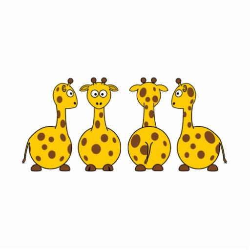 Giraffes cartoons photo cut outs