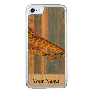 Giraffes Carved iPhone 8/7 Case
