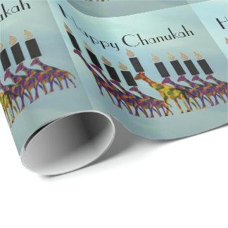 Giraffes Chanukah Menorah Wrapping Paper