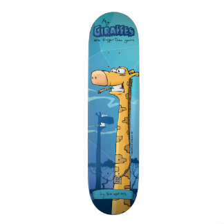 Giraffes custom skateboard. My giraffes are big... Skate Decks